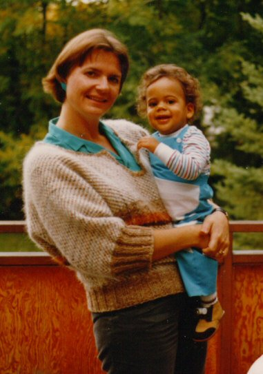 Aaron with his mom - 1986