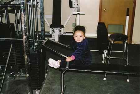Aaron's niece Chiara at Aaron's gym - 2005